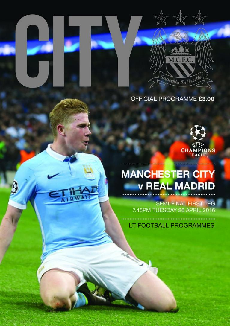 2016 CHAMPIONS LEAGUE SEMI-FINAL - MAN CITY v REAL MADRID