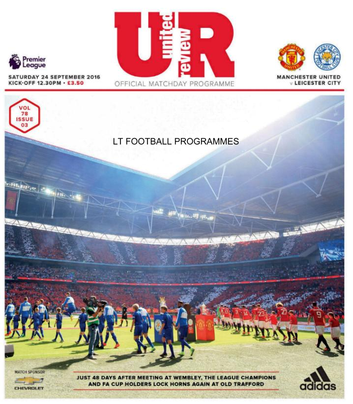 MAN UTD v LEICESTER CITY 2016/17