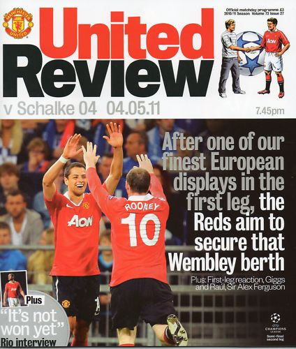 2011 CHAMPIONS LEAGUE SEMI-FINAL - MAN UTD v SCHALKE