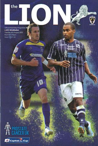 MILLWALL v AFC WIMBLEDON 2013/14 (CAPITAL ONE CUP)