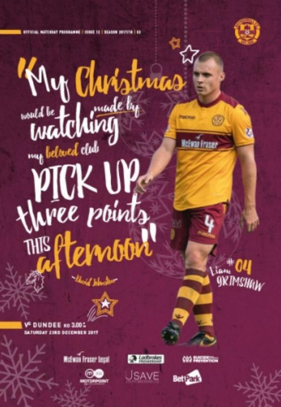 MOTHERWELL v DUNDEE (23rd December 2017) 2017/18