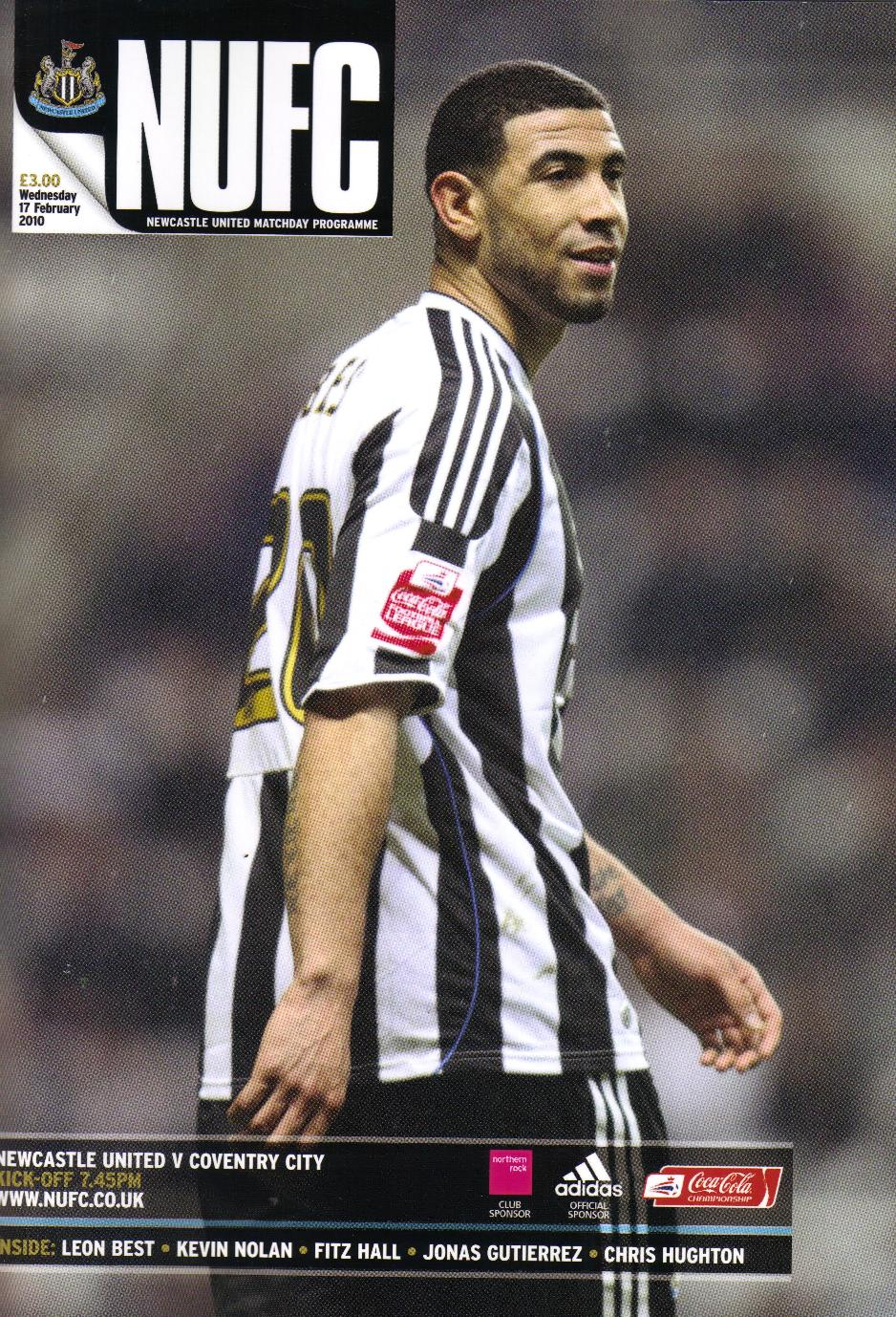 NEWCASTLE UTD v COVENTRY CITY 2009/10