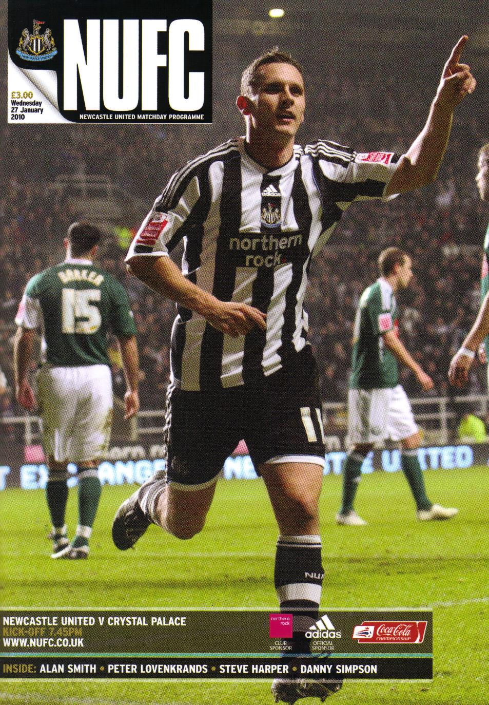 NEWCASTLE UTD v CRYSTAL PALACE 2009/10