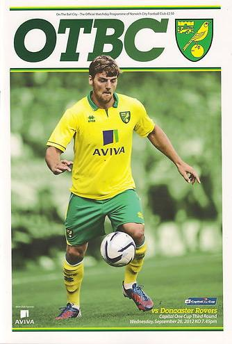 NORWICH CITY v DONCASTER ROVERS 2012/13 (CAPITAL ONE CUP)