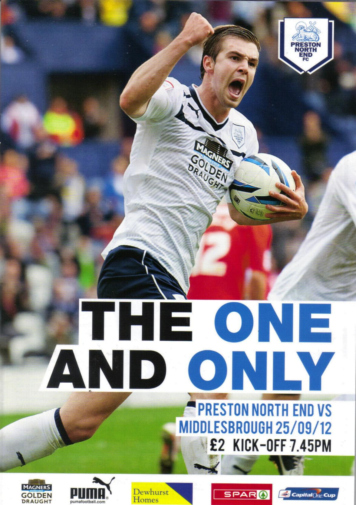 PRESTON NORTH END v MIDDLESBROUGH 2012/13 (CAPITAL ONE CUP)