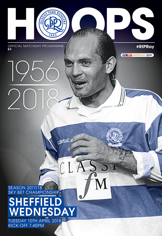 QPR v SHEFFIELD WEDNESDAY 2017/18 (RAY WILKINS TRIBUTE)