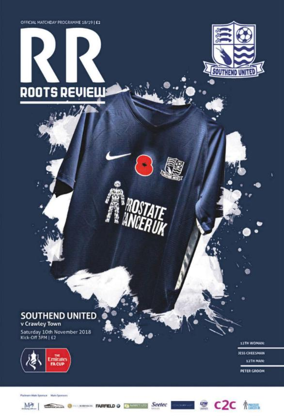SOUTHEND UNITED v CRAWLEY TOWN 2018/19 (FA CUP)