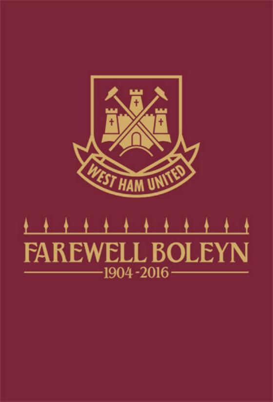 WEST HAM v MAN UTD 2015/16 LAST GAME @ BOLEYN GROUND (POST FREE)