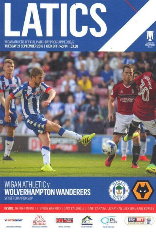 WIGAN ATHLETIC v WOLVES 2016/17