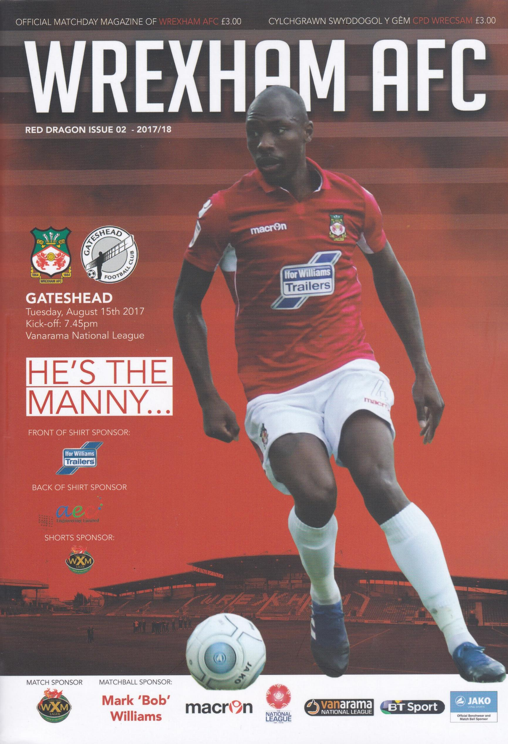 WREXHAM v GATESHEAD 2017/18