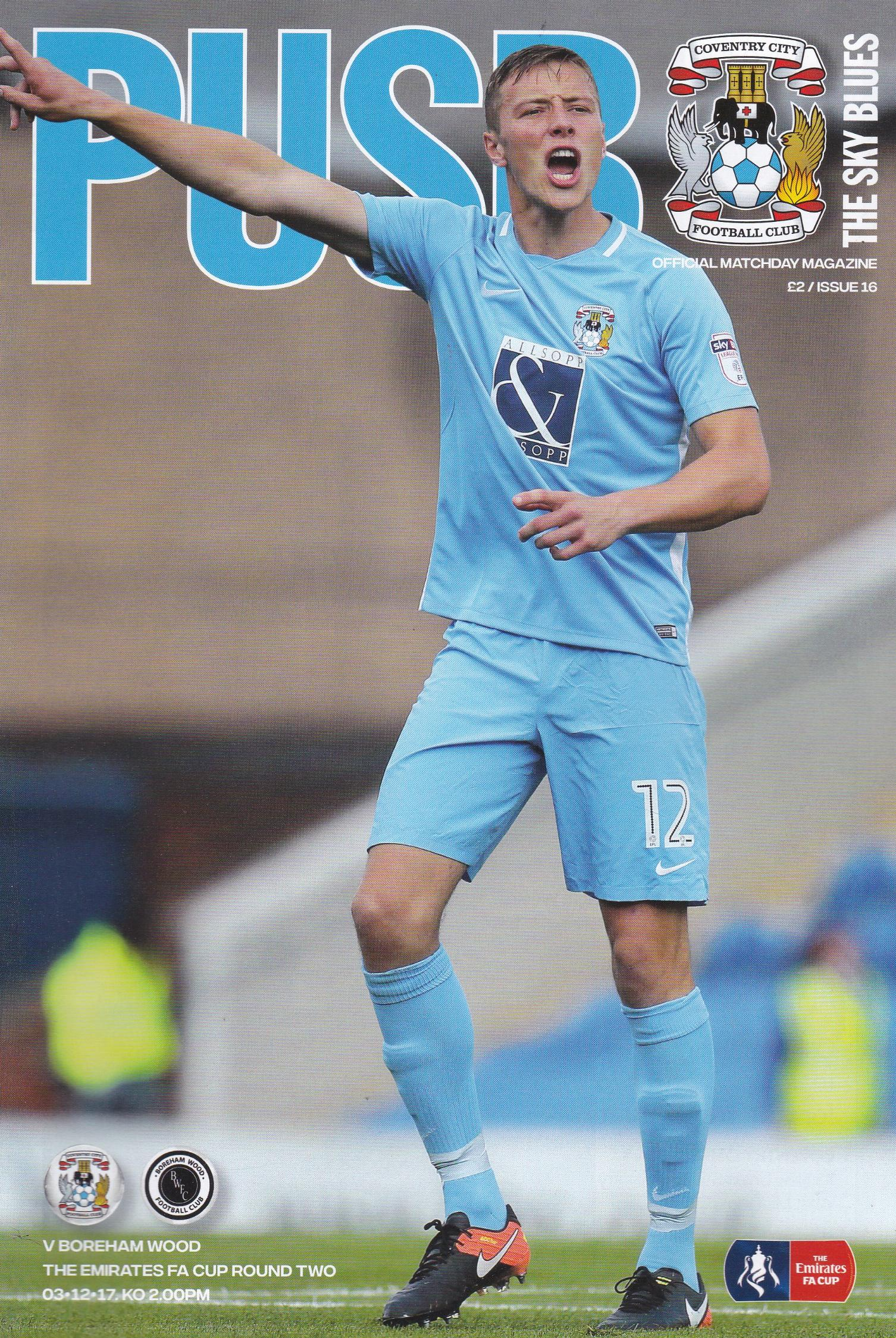 COVENTRY CITY v BOREHAM WOOD 2017/18 (FA CUP)