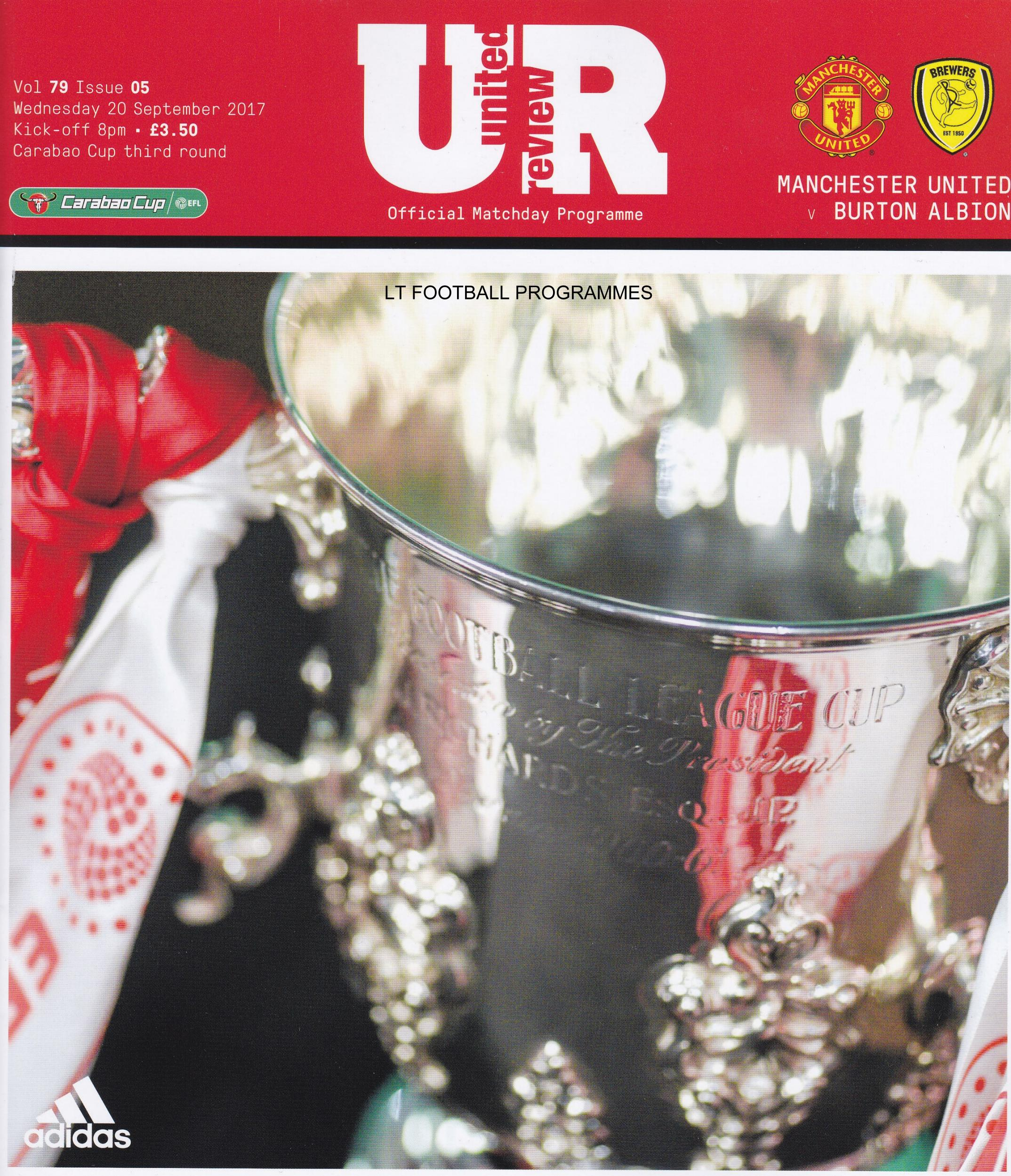 MAN UTD v BURTON ALBION 2017/18 (LEAGUE CUP)