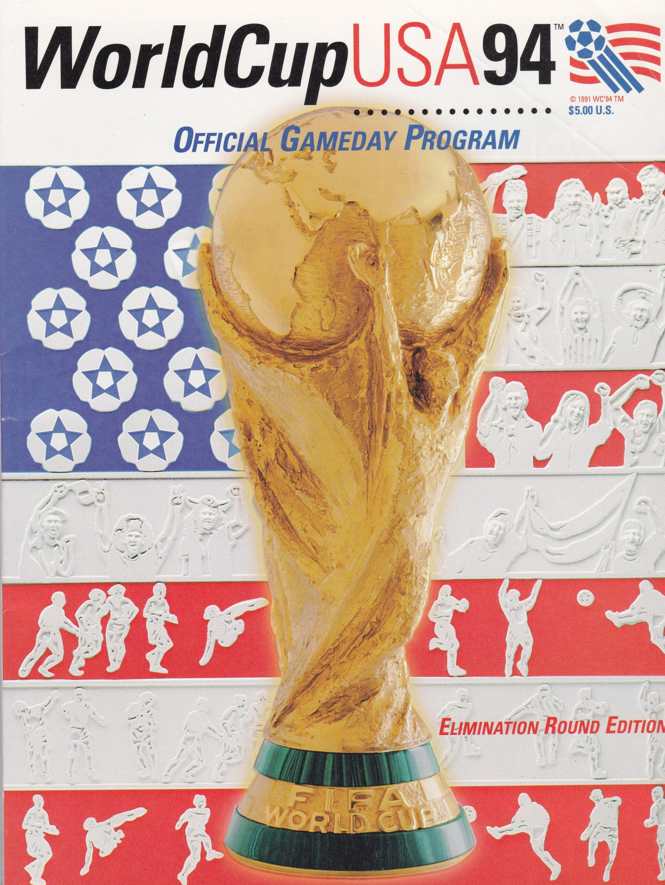 1994 WORLD CUP FINALS - OFFICIAL KNOCKOUT STAGES PROGRAMME